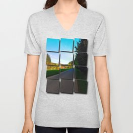 Country road on a spring afternoon | landscape photography Unisex V-Neck