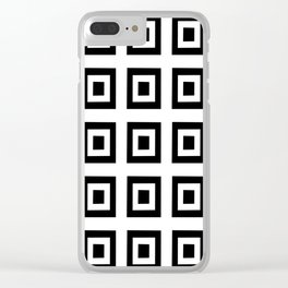 Tribute to mondrian 6- piet,geomtric,geomtrical,abstraction,de  stijl , composition. Clear iPhone Case