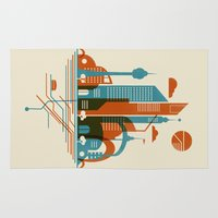 subway Area & Throw Rugs featuring From the Subway to the Sky by Jay Fleck