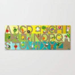 FOODIE ALPHABET Canvas Print