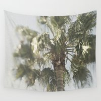 palm tree Wall Tapestries featuring Palm Tree by Pure Nature Photos