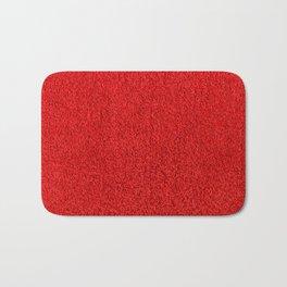 Rose Red Shag pile carpet pattern Bath Mat
