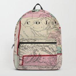 Vintage Map of Colorado (1873) Backpack