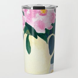 Peonies at Spring's End Travel Mug