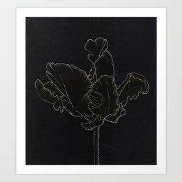Dark Orchid Art Print