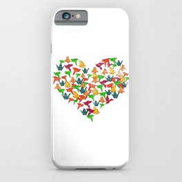 Love Color Origami iPhone Case