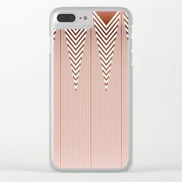 Art Deco Geometric Arrowhead Dusty Peach Design Clear iPhone Case