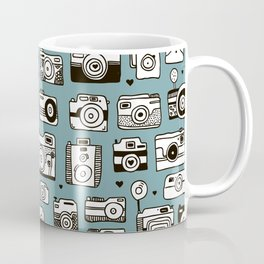 Smile action toy camera vintage photography pattern Coffee Mug