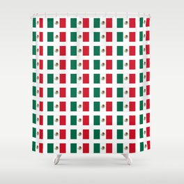 Flag of mexico 3 - mexico,mexico city,mexicano,mexicana,latine,peso,spain,Guadalajara,Monterrey Shower Curtain