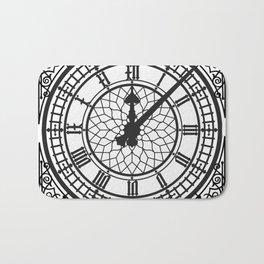 Big Ben, Clock Face, Intricate Vintage Timepiece Watch Bath Mat