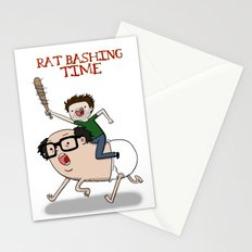 Rat Bashing Time Stationery Cards
