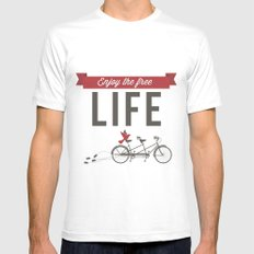 Enjoy the free life Mens Fitted Tee White MEDIUM