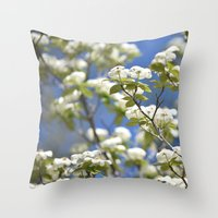 flight Throw Pillows featuring Flight by Lisa Argyropoulos
