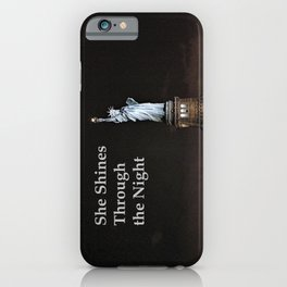 She Shines Through the Night iPhone Case