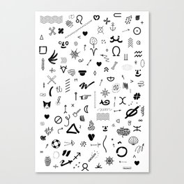 DINGBATS FY Canvas Print