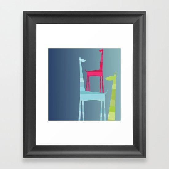 Giraffe Trio Framed Art Print
