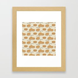 Brown cookies Framed Art Print