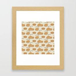 Brown cookies Framed Art Print