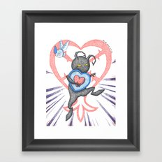 Heartless Stealing Piece of Heart Framed Art Print