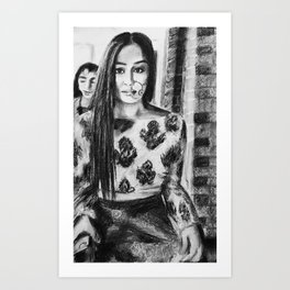 Desi Art Print