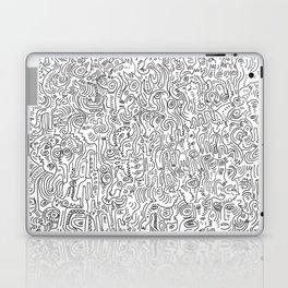 Graffiti Black and White Pattern Doodle Hand Designed Scan Laptop & iPad Skin