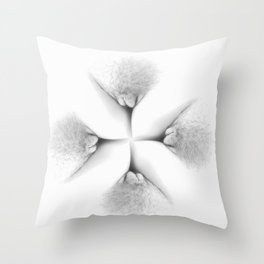 Abstract Vagina 2 Throw Pillow