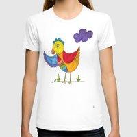 "chicken T-shirts featuring ""Chicken""  by Holly Lynn Clark"