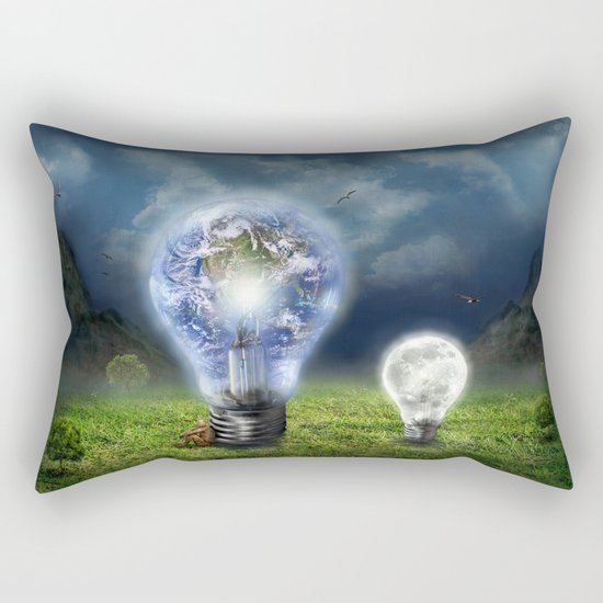 The earth and the little brother Rectangular Pillow