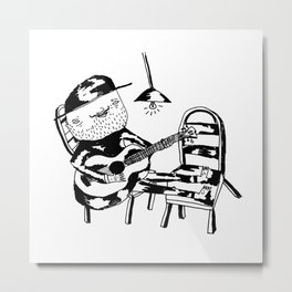 Tired Mariachi Metal Print