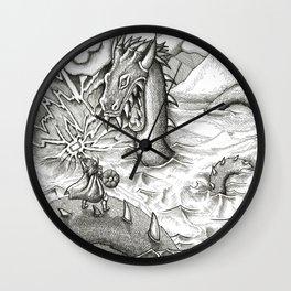 Jormungand Battle Wall Clock