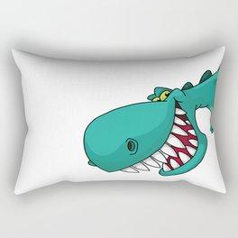 Naughty Dinosaur Rectangular Pillow