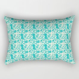 Sewing Toile in Teal Rectangular Pillow