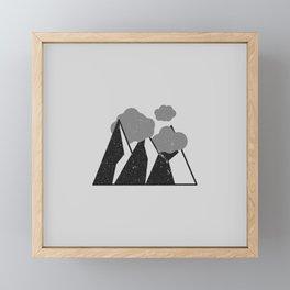Mountain Clouds Framed Mini Art Print