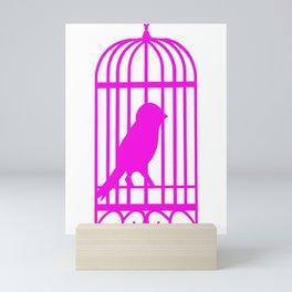 Pink Bird Mini Art Print