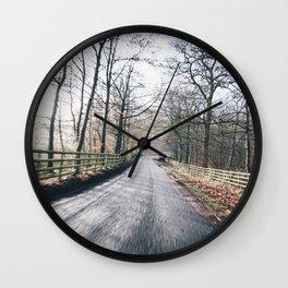 winter lanes in egland Wall Clock