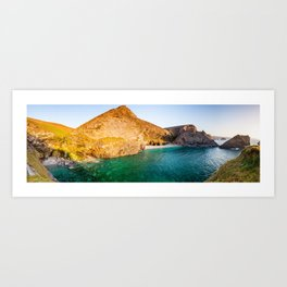 Porth-cadjack Cove panorama Art Print