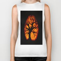 halloween Biker Tanks featuring HalloWeen by 2sweet4words Designs