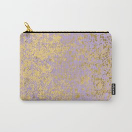 Lavender and Gold Patina Design Carry-All Pouch