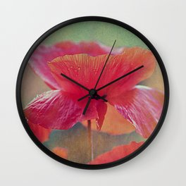 Poppies (vintage)2 Wall Clock