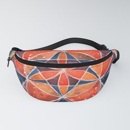 Twelve Around One Universe Galaxy Geometric Watercolor Painting Fanny Pack