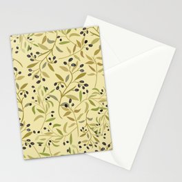 Olive branches pattern Stationery Cards