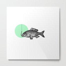 mint bubble Metal Print