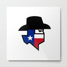 Bandit Texas Flag Icon Metal Print