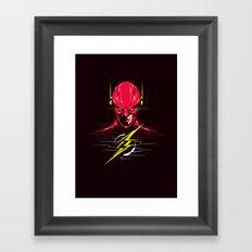 Speed force Framed Art Print