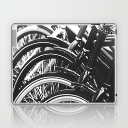 Bicycles, Bikes in Black and White Photography Laptop & iPad Skin
