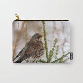 Fieldfare bird Carry-All Pouch