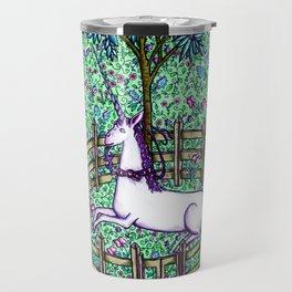 Medieval Unicorn Garden Travel Mug