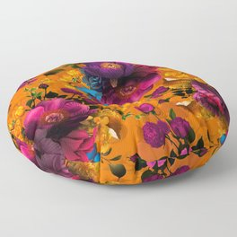 Vintage & Shabby Chic - Midnight Tropical Garden Floor Pillow
