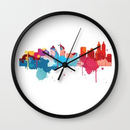 Jakarta Cityscape Watercolor Wall Clock
