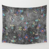 egyptian Wall Tapestries featuring EGYPTIAN by sametsevincer